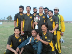 Team with Trophy